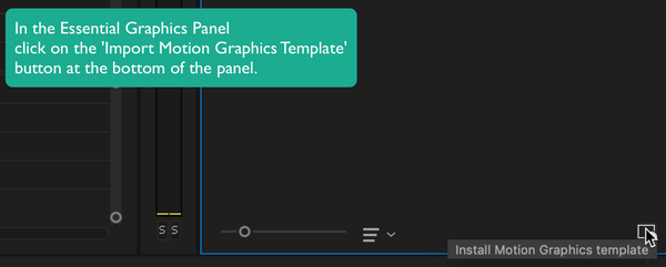 install motion graphics template mogrt