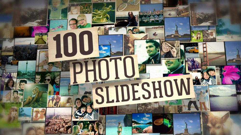 100 photo slideshow after effects template download