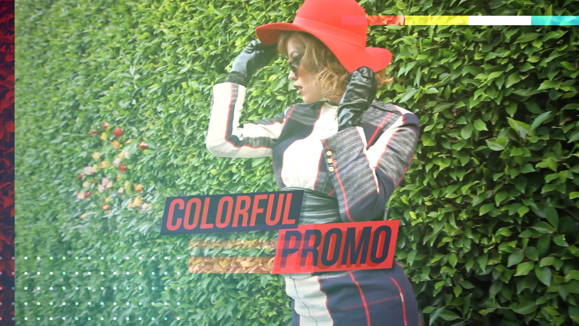 colorful promo glitch template after effects