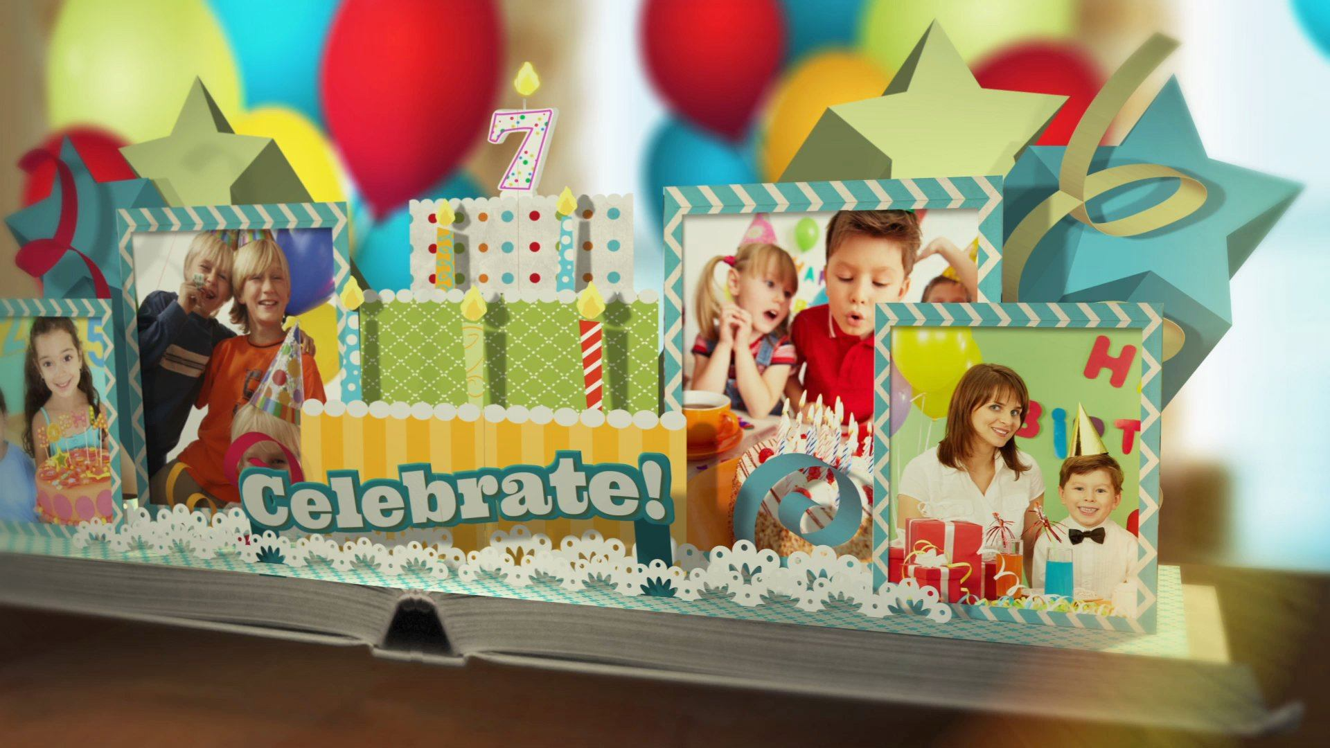 After Effects Template - Happy Birthday Pop Up Book After Effects Template