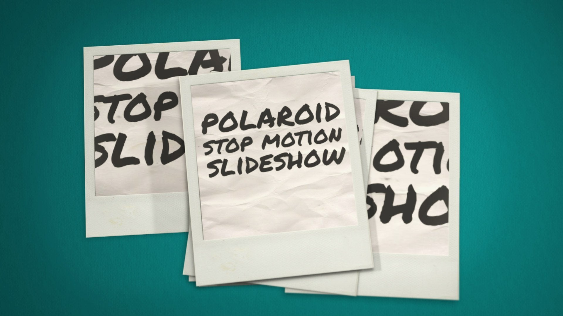 polaroid stop motion after effects template