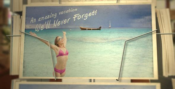 After Effects Template - Postcard Vacation After Effects Template