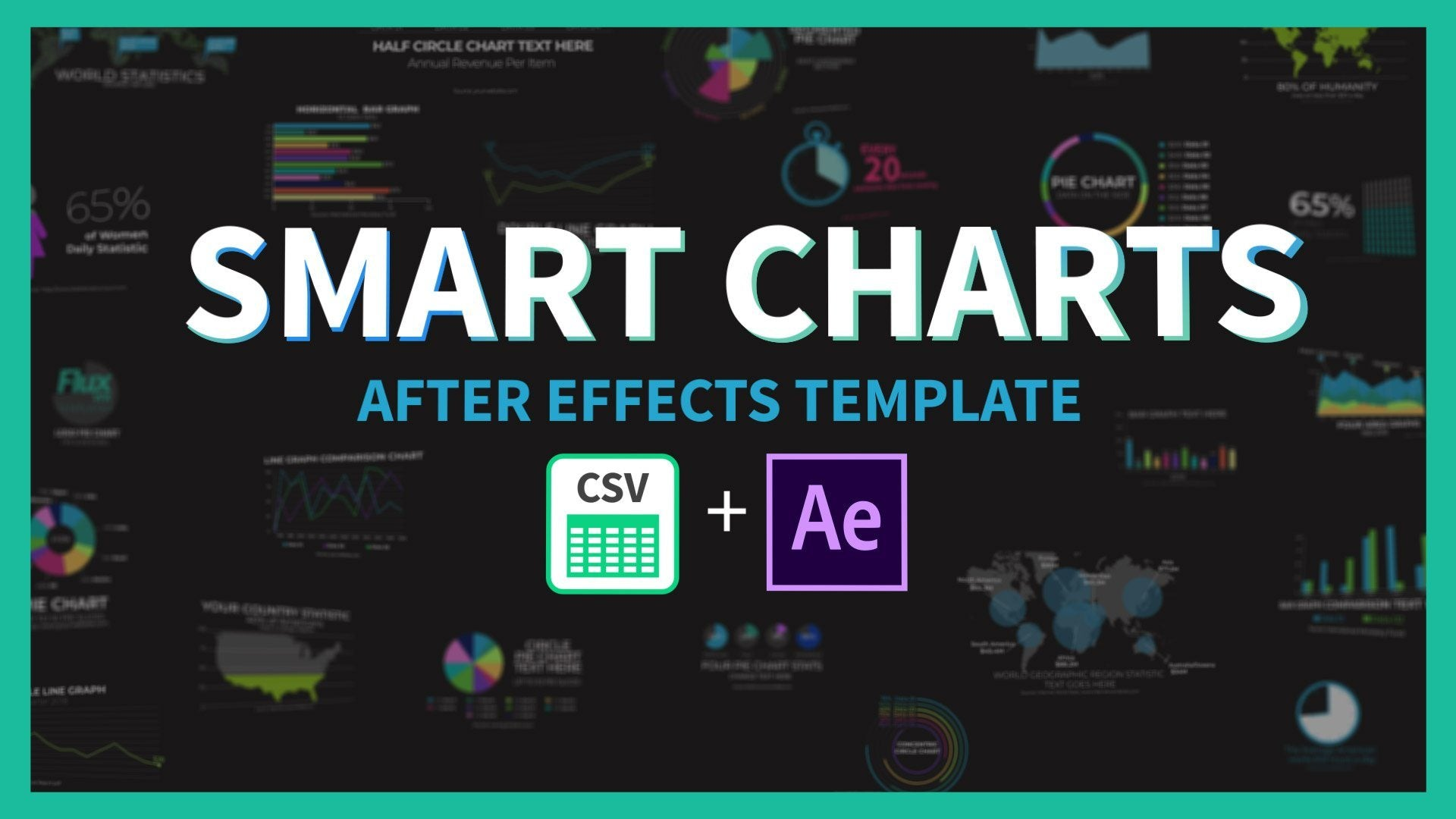 smart charts data driven after effects template infographics