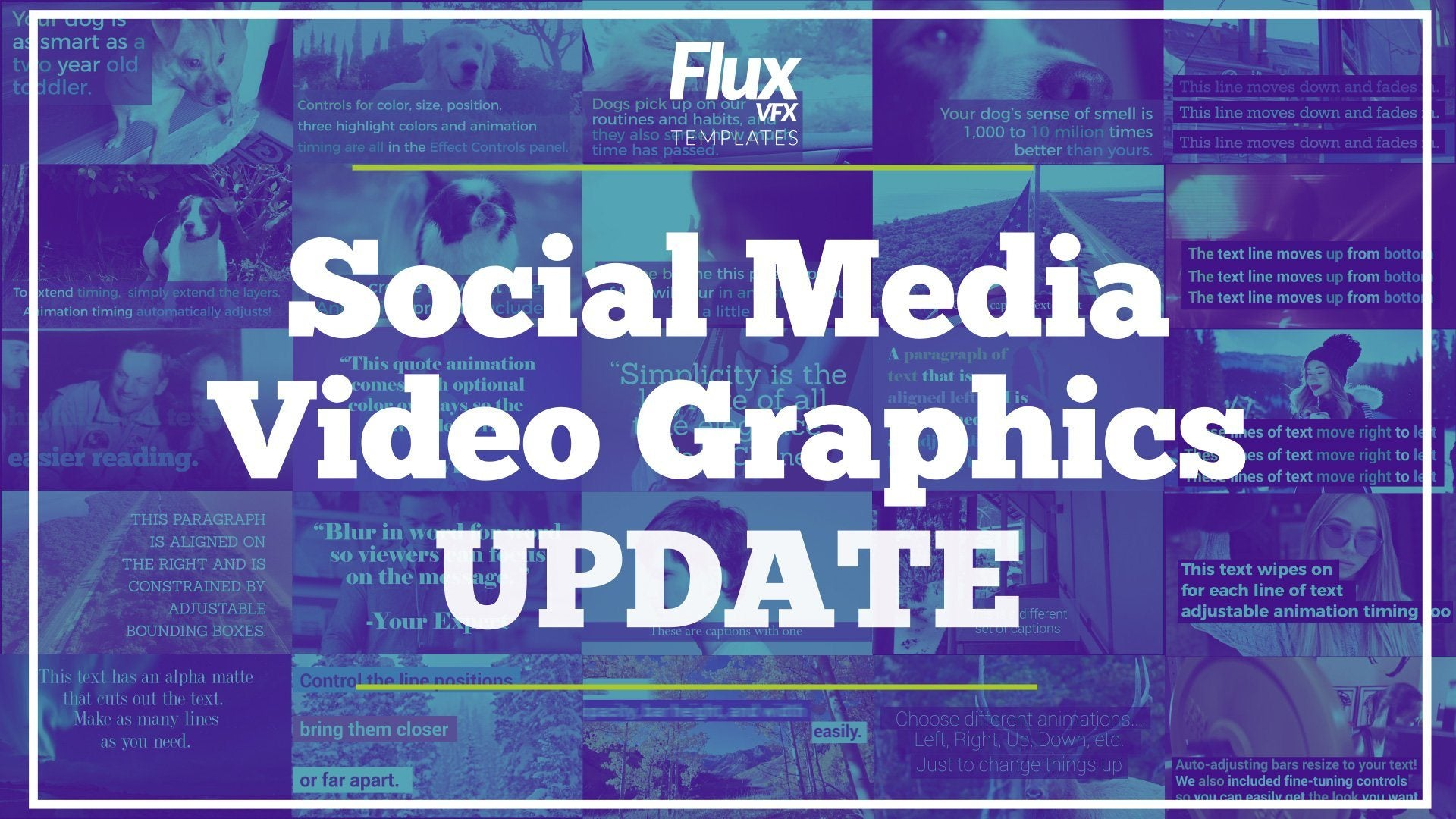 social media video graphics template
