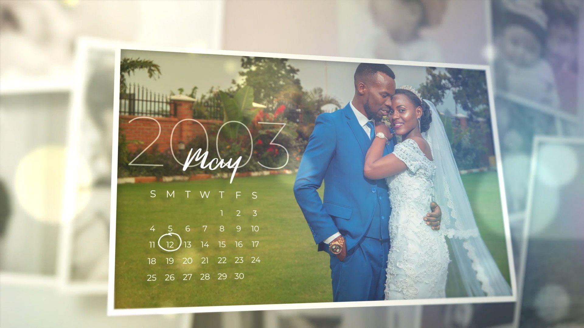 After Effects Template - Sweet Memories Calendar Slideshow After Effects Template