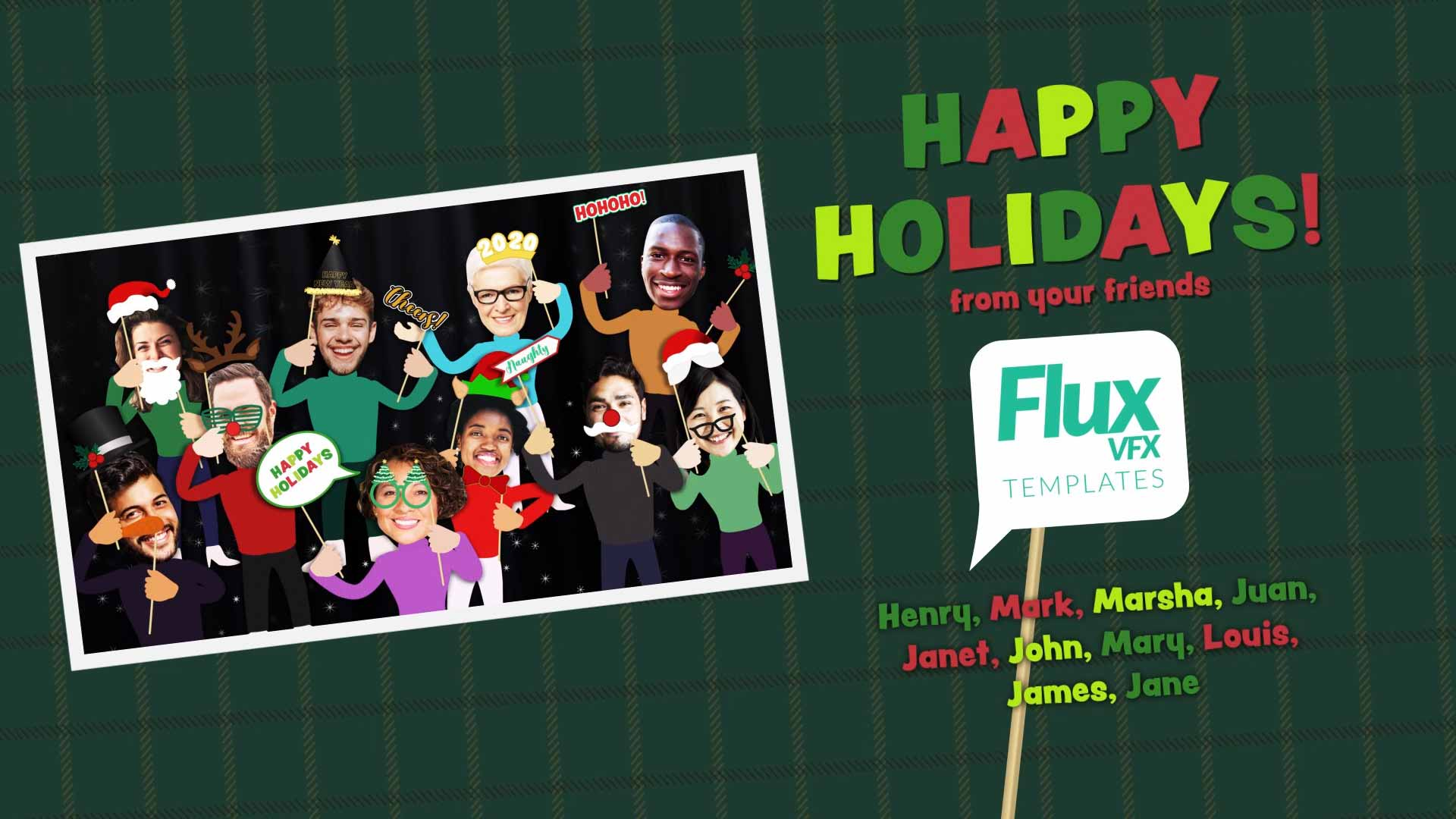 Holiday Photo Booth After Effects Template