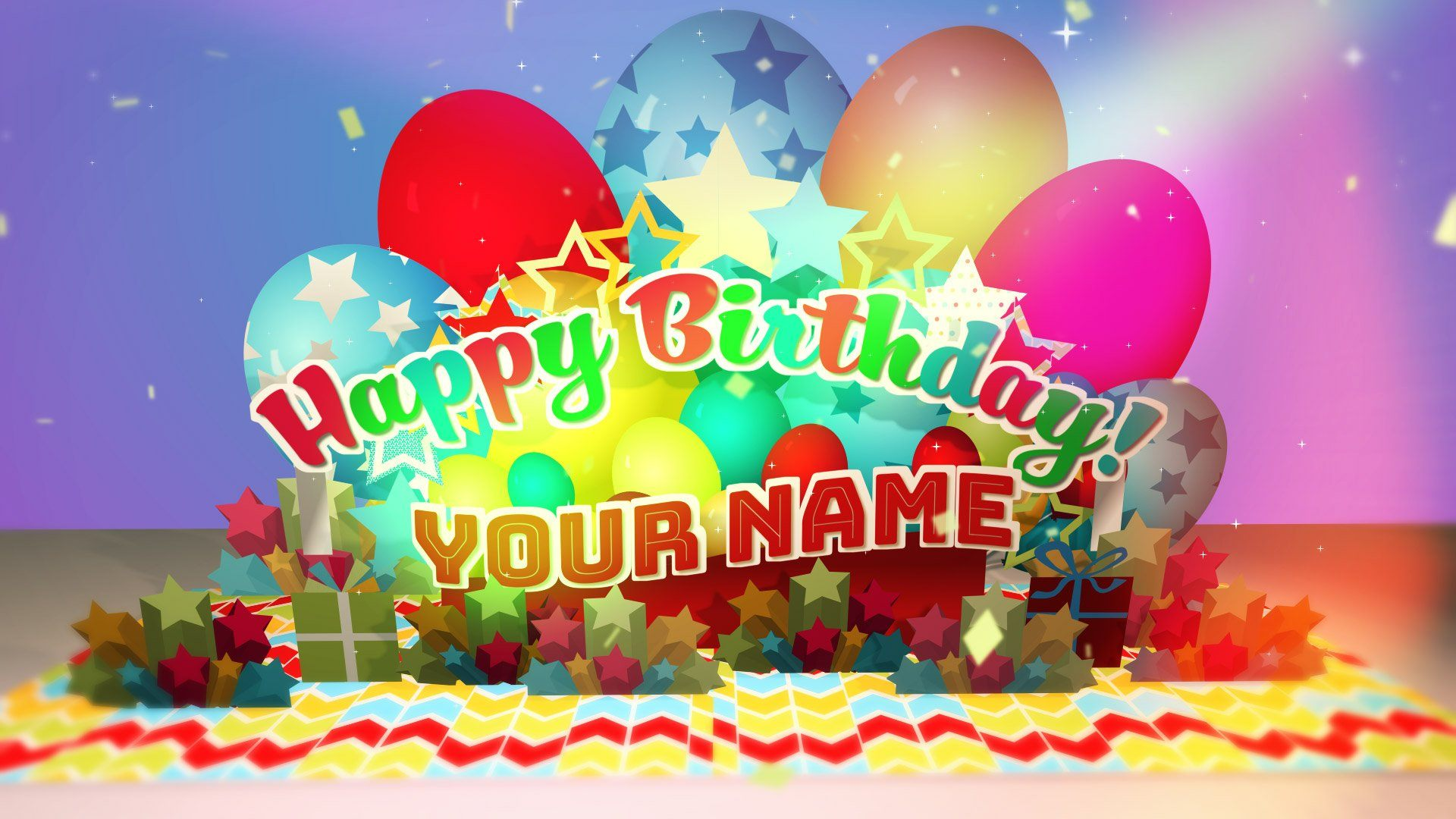 Premiere Pro Mogrt - Birthday Pop Up Card Title Mogrt