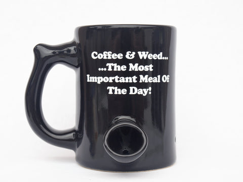Wake n' Bake PIPEMUG | Coffee & Weed....The Most Important Meal Of The Day! | Small