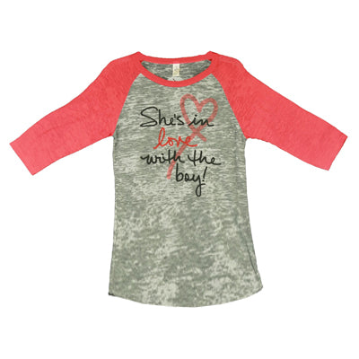 "TY Red Raglan ""She's in Love with the Boy"""