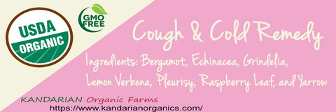 Organic Cough and Cold Tea - Kandarian Organic Farms