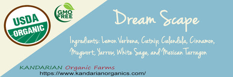 Organic Dreamscape Tea - Kandarian Organic Farms