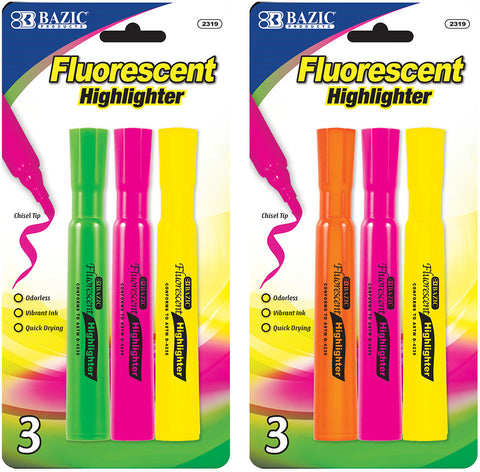 Highlighters 3ct. (Assorted)