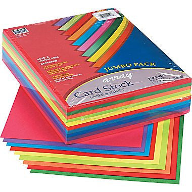 Cardstock 100ct. (Assorted Colors)