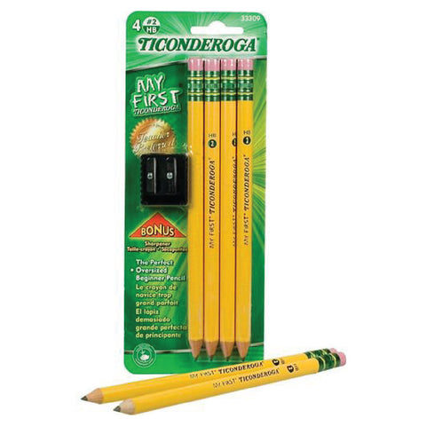 #2 My First Pencil 4ct. (Presharpened) - Ticonderoga