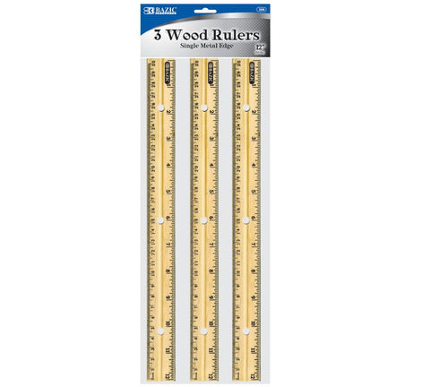 Wood Ruler 3ct.