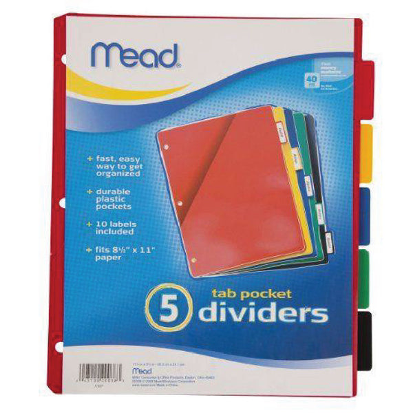 5 Tab Dividers - Mead