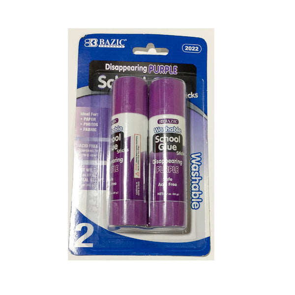 Purple School Glue Sticks 2ct.