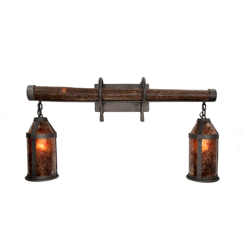 Double Sconce - HICKORY MICA