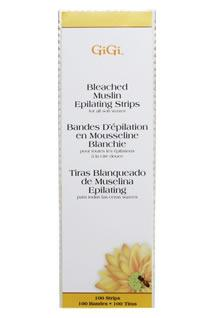 Gigi Large Bleached Waxing Strips #0640