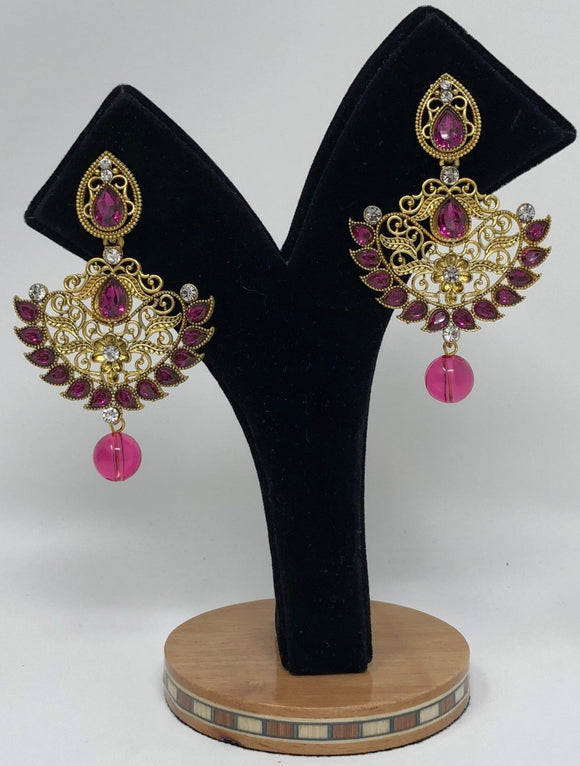E20 Indian Jhumka Jewelry Earrings