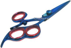 "6.5"" Swivel Thumb 3 Ring Blue Titanium Hair Cutting Shears Scissor 18BT3"