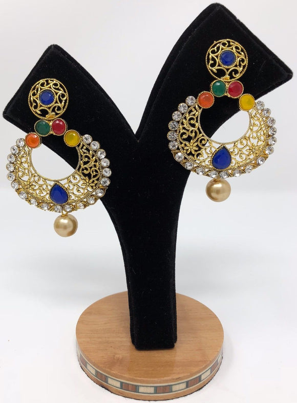 E13 Indian Jhumka Jewelry Earrings