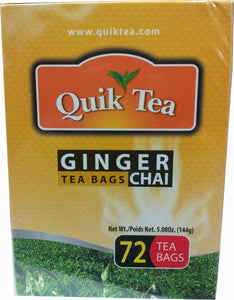 Quik Tea Ginger Chai 72 Tea Bags