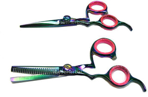 "5.5"" Left Hand Hair Cutting & Thinning Shears Scissor Pair 21LHTPAIR"