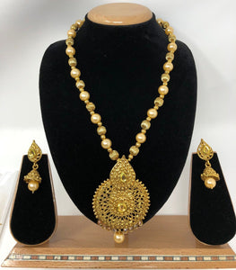 TC-D Indian Bridal Fashion Jewelry Necklace Jhumka Earrings Set