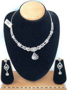 ADS3 Indian Bridal Fashion Jewelry Necklace Jhumka Earrings Set