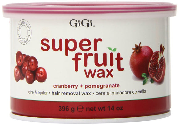 Gigi Super Fruit Wax, Cranberry Plus Pomegranate 14 Ounce #0357