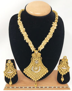 AB-1 Indian Bridal Fashion Jewelry Necklace Jhumka Earrings Set