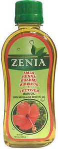 Zenia Amla Henna Brahmi Hibsicus & Vettiver Hair Oil 200ml - Zenia Herbal