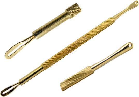 1Loop1Scoop Gold Blackhead Pimple Comedone Remover Extractor Tool
