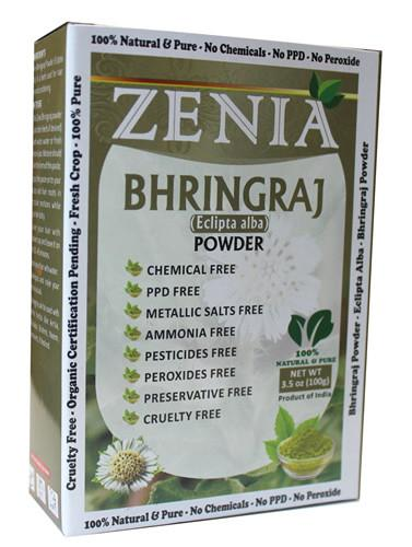 100g Zenia Bhringraj Powder Box - Zenia Herbal
