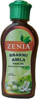 Zenia Brahmi Amla Hair Oil 100% Natural No Mineral Oil 200ml - Zenia Herbal