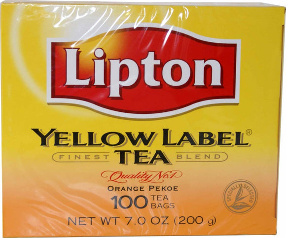 Lipton Yellow Label Tea 100 Tea Bags - 200g