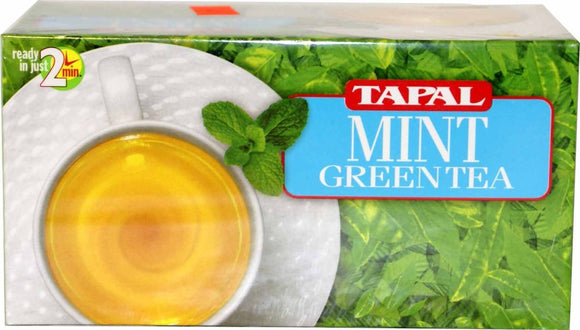 3  Tapal Mint Green Tea 45g Boxes