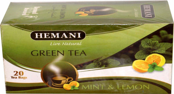 Hemani Green Tea Mint & Lemon 40g