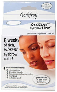 Godefroy Instant Eyebrow Tint Permanent Color Kit - Natural Black