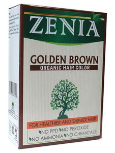 Zenia Organic Henna Hair Color Golden Brown 100g - Zenia Herbal