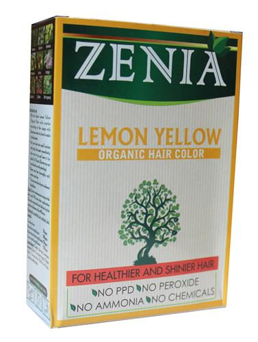 Zenia Organic Henna Hair Color Lemon Yellow 100g - Zenia Herbal
