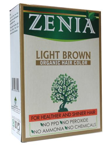 Zenia Organic Henna Hair Color Light Brown 100g - Zenia Herbal