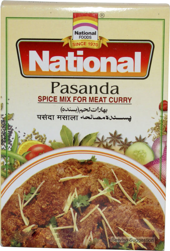 National Pasanda Spice Mix For Meat Curry 100g