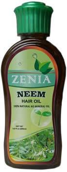 Zenia Neem Hair Oil 100% Natural No Mineral Oil 200ml - Zenia Herbal