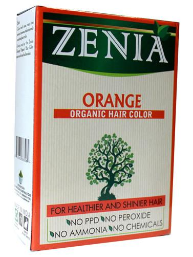 Zenia Organic Henna Hair Color Orange 100g - Zenia Herbal