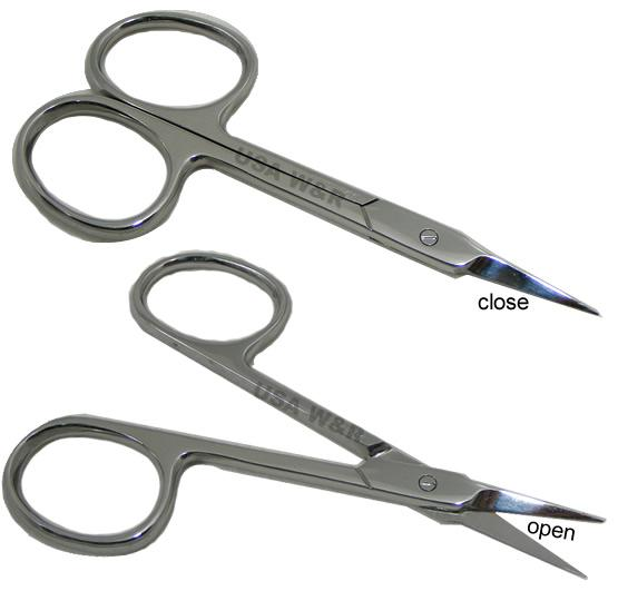 E6  Pointed tip Mens Grooming Embroidery Eyebrow Scissor