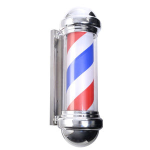 "30"" Barber Shop Pole Red White Blue Rotating Light Stripes Sign Hair Salon"