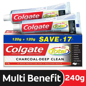 Colgate Total Charcoal  Toothpaste (2 x 120g) 2 pcs. per pack
