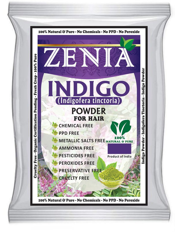 200g Zenia Indigo Powder Hair / Beard Dye Color 2019 crop
